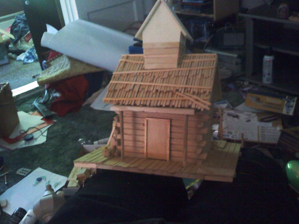 The witch house is a miniature that I built.