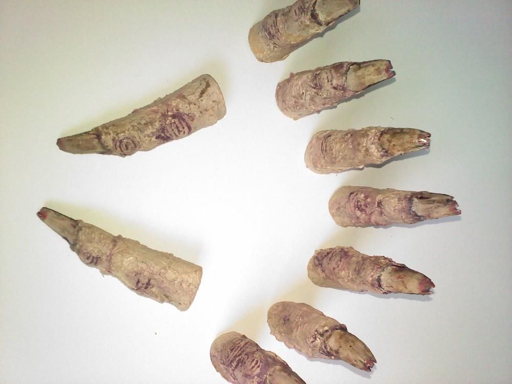 Finished Mummy Fingers.