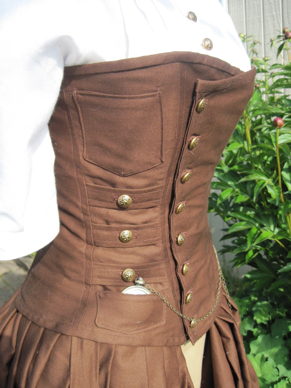 A close up of the corset created by Alisa.