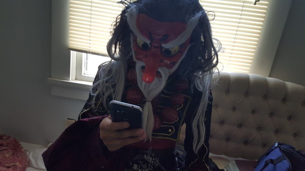 Pirate King checkin' the messages.