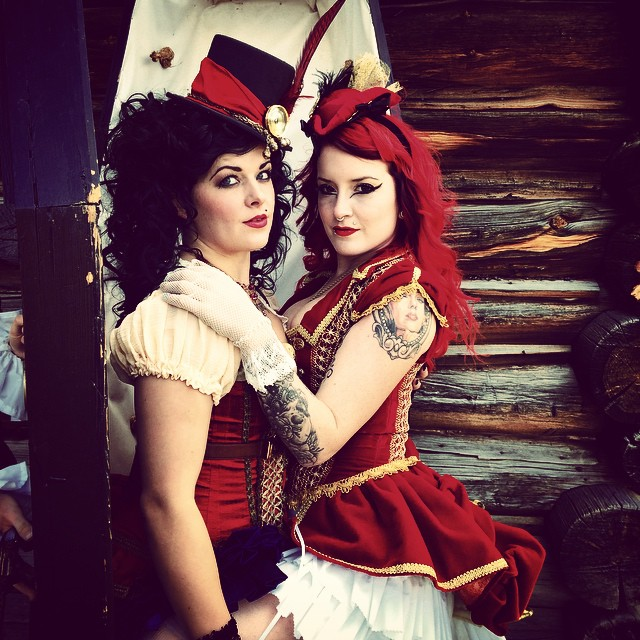 Steampunk saloon girls.