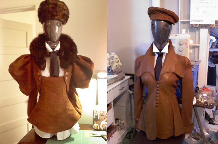 Early costume progress for the automatons.