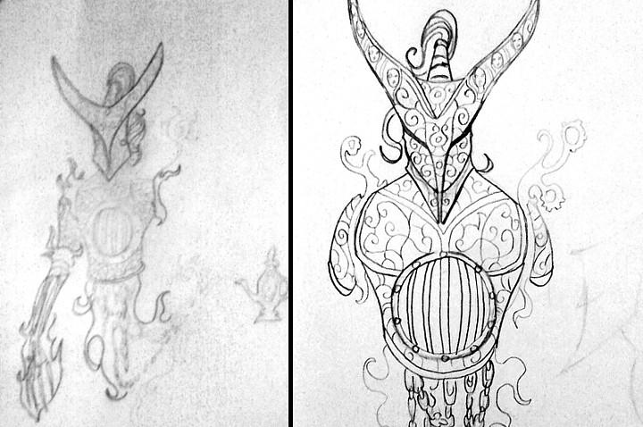 Genie Design Sketch.