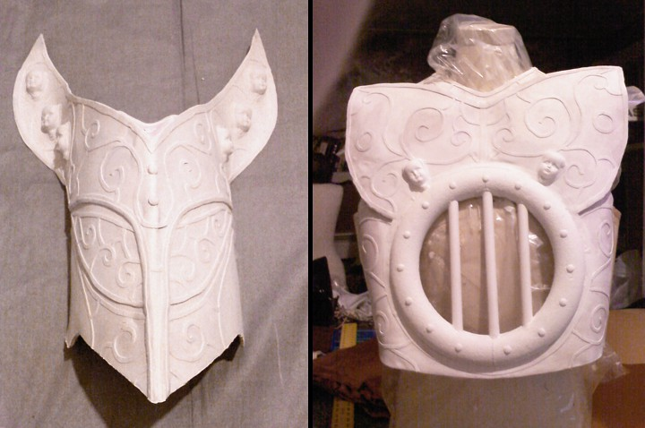 Worbla painted with Gesso primer.