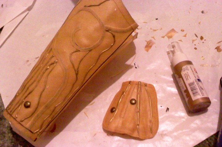 Worbla bracers and glove piece.