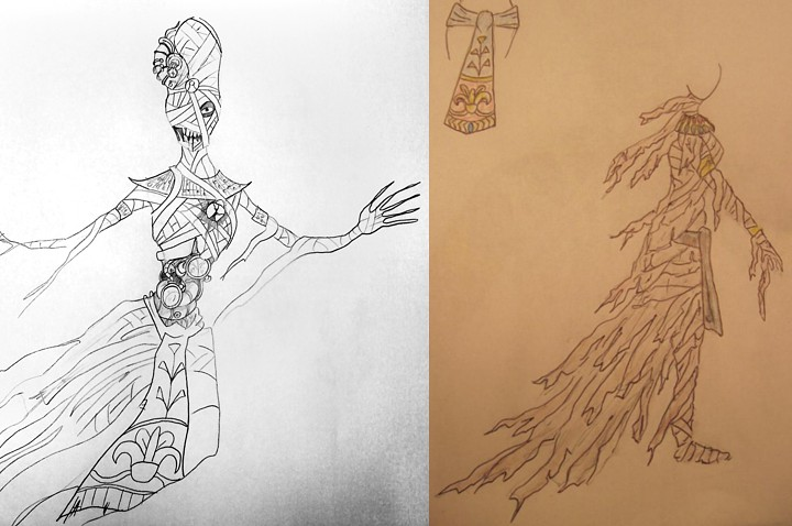 Mummy Sketch by Tyson and Mummy concept by Alisa.