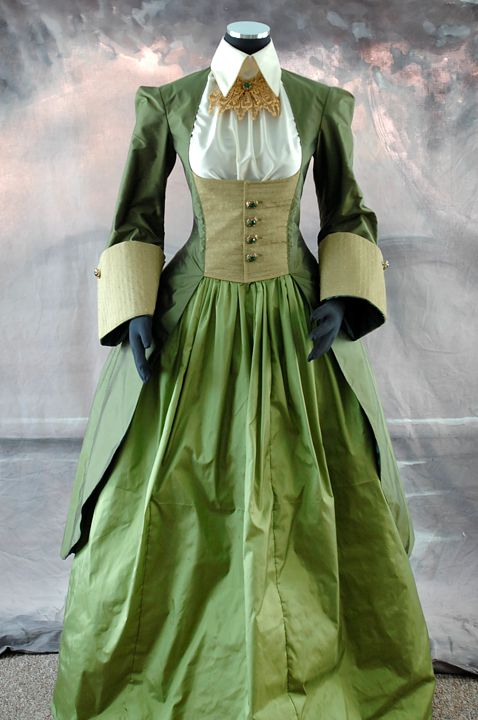 The riding outfit with the blouse and lace jabot finished.
