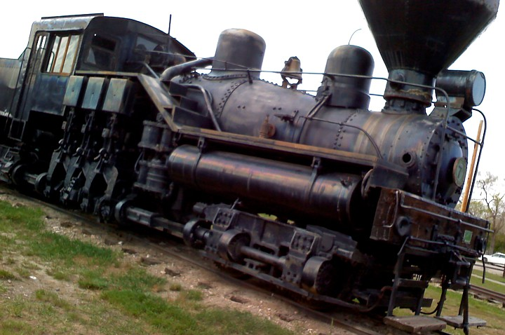 A steam engine at Fort Missoula in Montana.