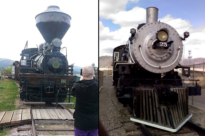 The Steam engine at Fort Missoula and the second one at the Butte Civic Center.