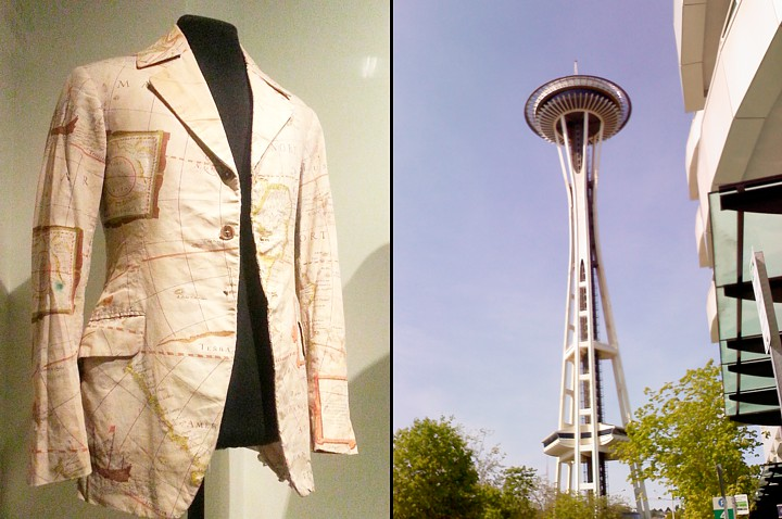 Jimmy Hendrix map-blazer, perfect for Steampunk, and the Space Needle.