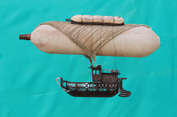 Steampunk Airship element before photoshop.