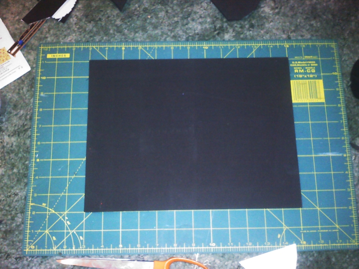1. Starting with a thick Craft Foam Sheet, I drew a pattern and traced it onto the foam.