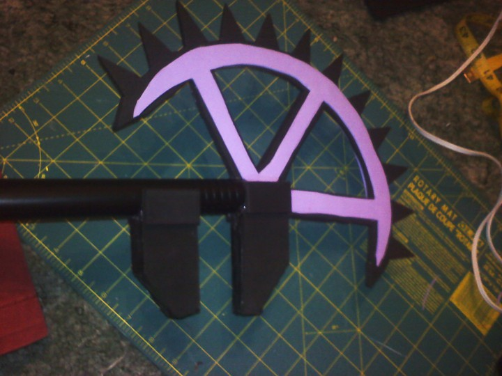 5. I cut out a thinner foam piece to fit inside the gear for more support and stability.