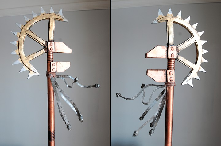 "A Steampunk Axe made for ""A Steampunk Guide to Hunting Monsters."""