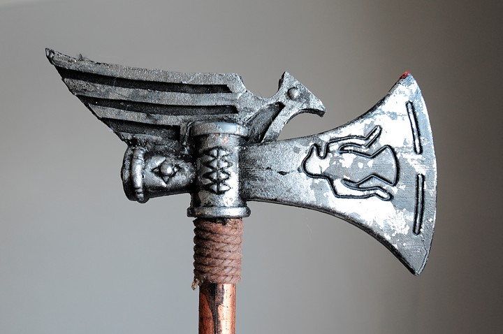 "Thunder Boy's Steampunk Hatchet from ""A Steampunk Guide to Hunting Monsters."""