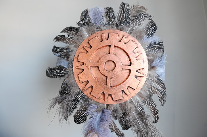 A steampunk native american indian shield used by Thunder Boy.