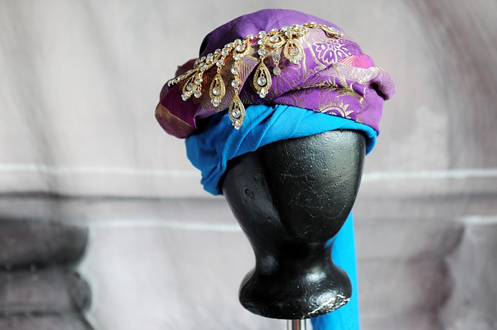 Turban in close up.