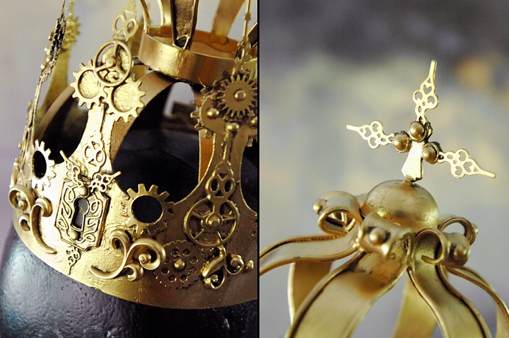 Some close-ups of the details in the steampunk crown.