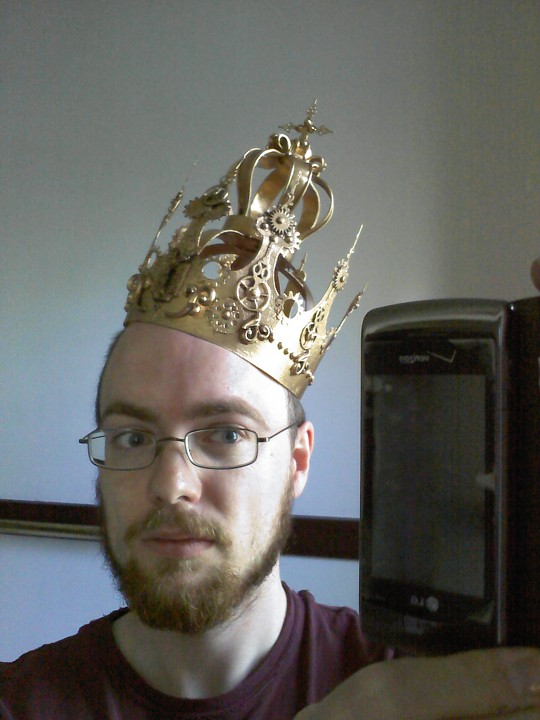 Here I am displaying the crown on my regal head face.