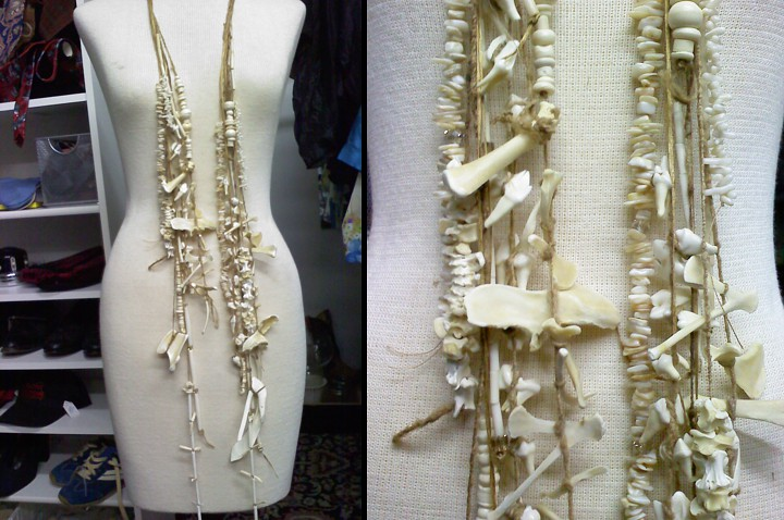 Jen Driver created this stunning bone necklace.