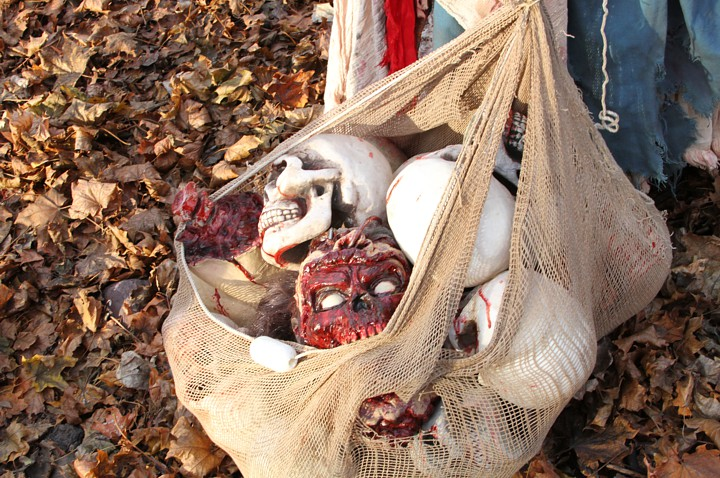 A bag of heads.