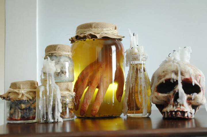 Witch bottles full of creepy things!