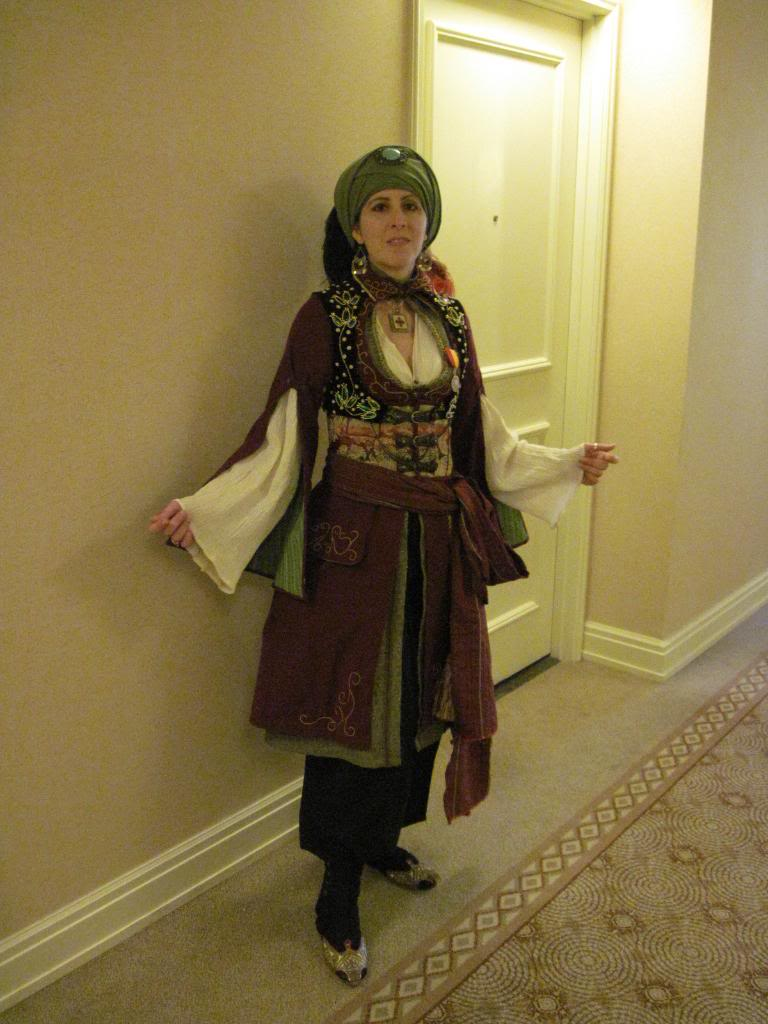 Alisa Kester wears her middle-eastern steampunk outfit.
