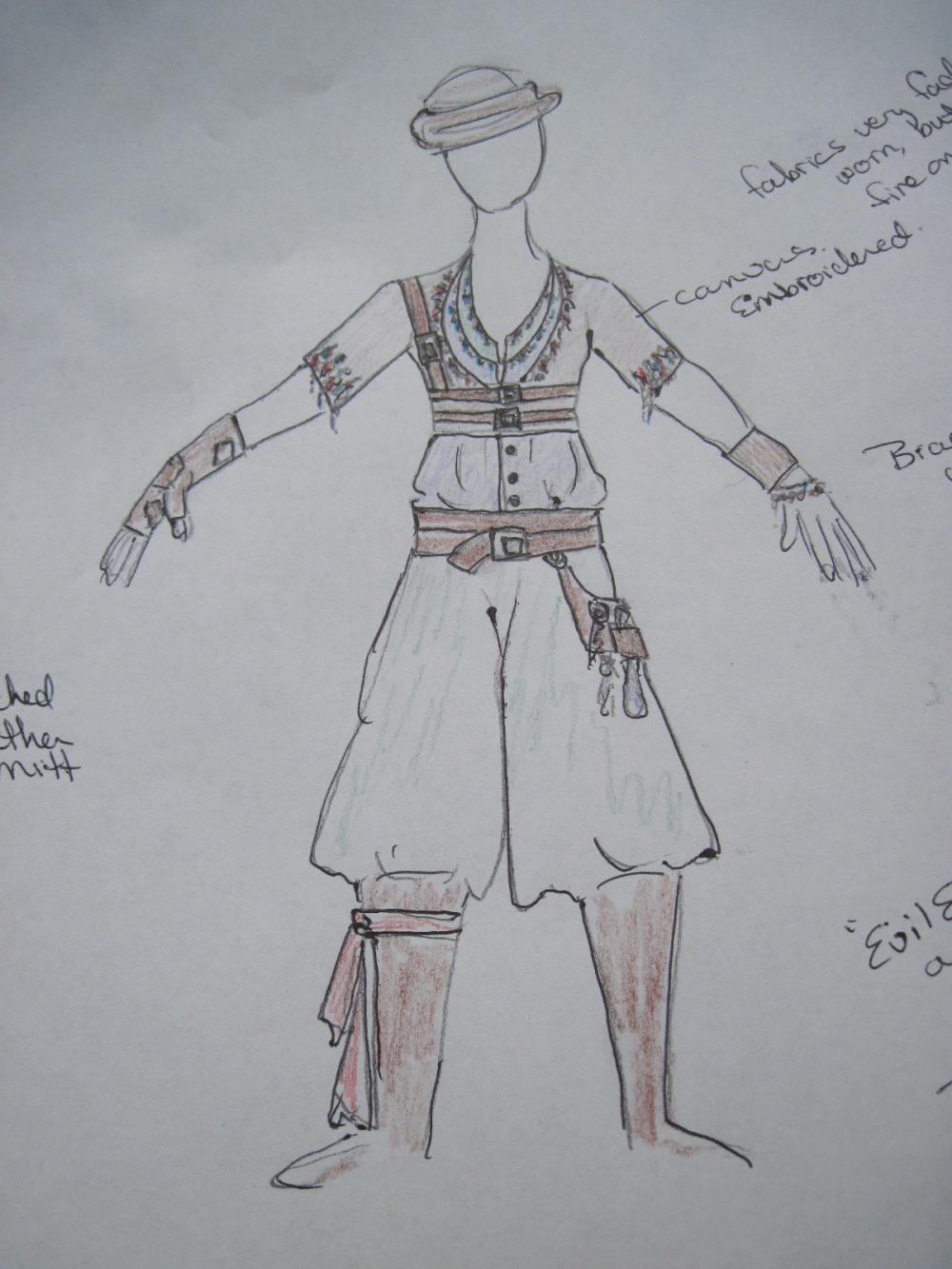 Thief sketch by Alisa Kester.