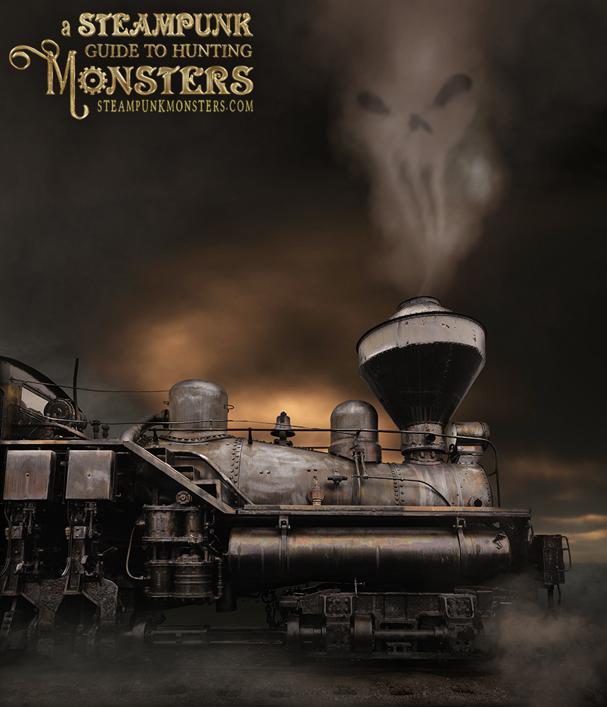 The final image of the death train from A Steampunk Guide to Hunting Monsters.