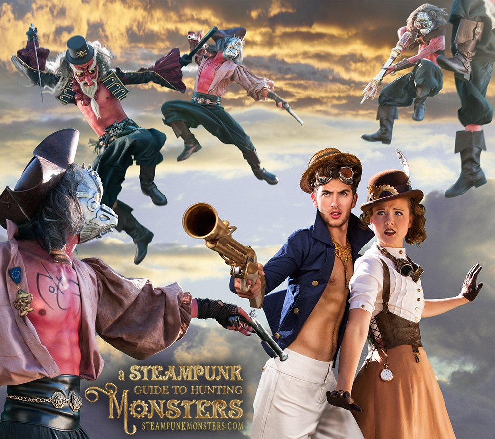 Pirate attack from A Steampunk Guide to Hunting Monsters.