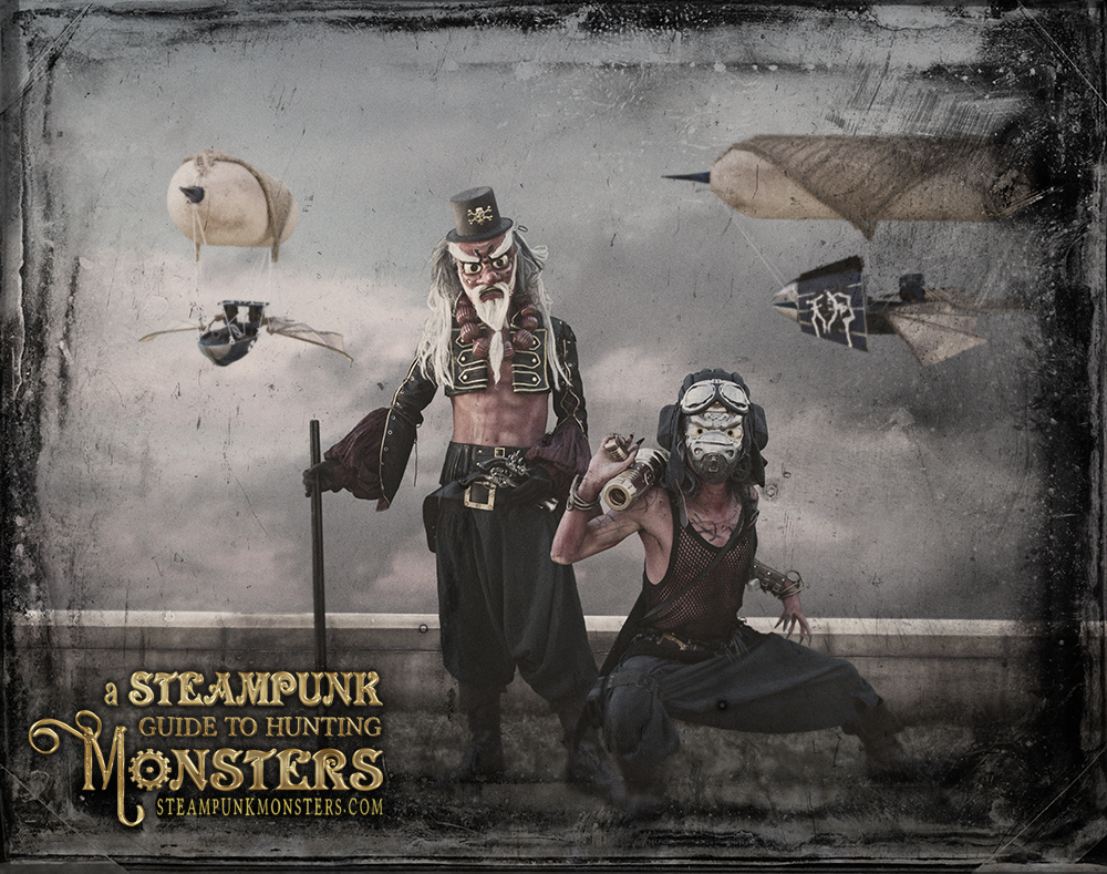 Airship pirates from from A Steampunk Guide to Hunting Monsters.