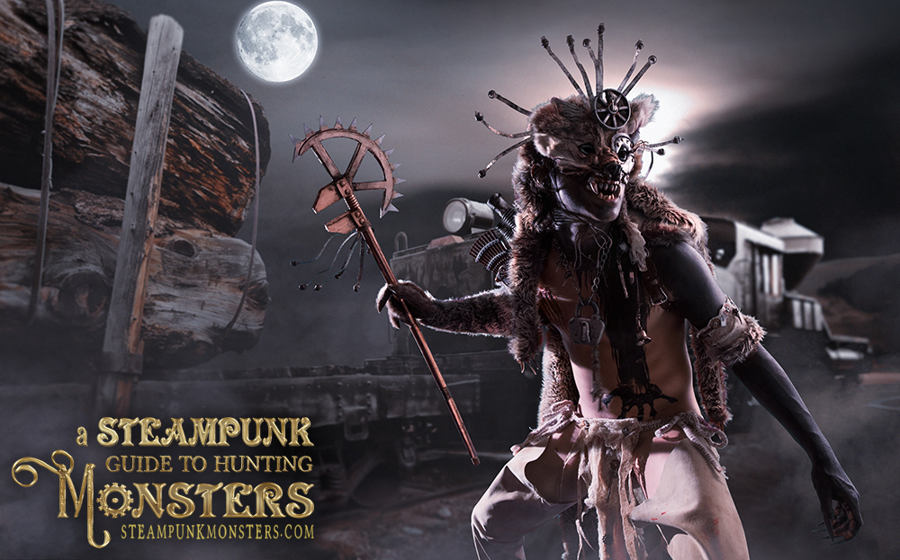 "Bert Malcom as the monster in ""A Steampunk Guide to Hunting Monsters"" final image."